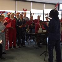 BSP Wakes Up and Sings with Santa